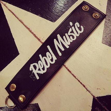 Rebel Music/leather wristband