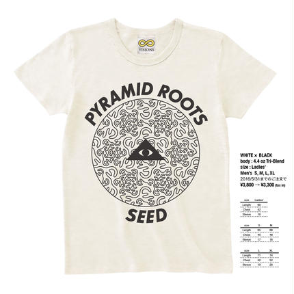 """PYRAMID ROOTS """"SEED"""" / WHITE × BLACK"""