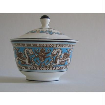 Wedgwood(ウエッジウッド)フロレンティーン ターコイズ ふた付き オリエンタルティーカップ
