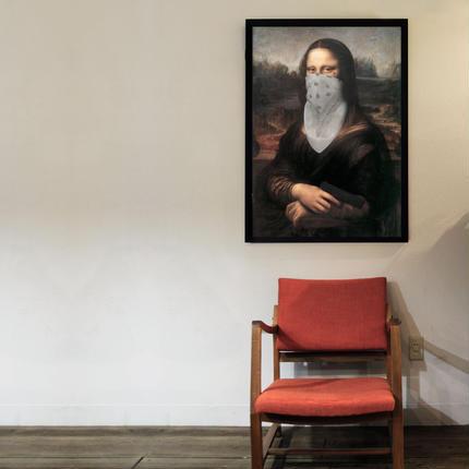 GANGSTA Mona Lisa Poster / ARUKAS by LOCO