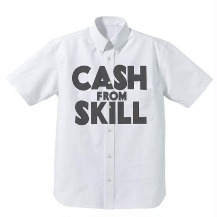 CASH FROM SKILL Oxford SS shirts / UNOFFICIAL