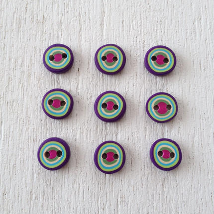 ボタン(purple green blue kinali pink)