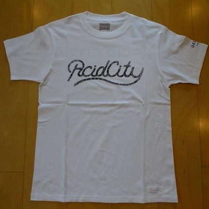 DELUXE x NITELIST ACID CITY  Classic Tee Shirts White