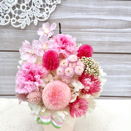 桜カラー✴︎プリザーブドフラワーアレンジ