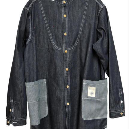 ちょっと ポケット大きめ デニムシャツ