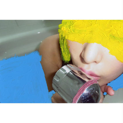 【056】LICKING WITH YELLOW HEAD IN BLUE WATER