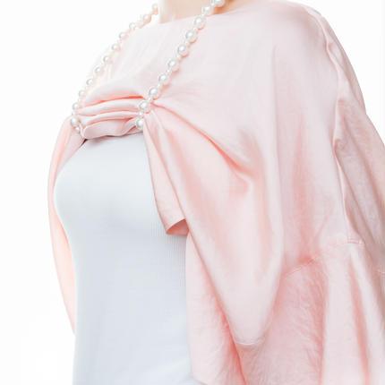 授乳ストラップ/授乳ネックレス コットンパール 120cm  (パールサイズ12mm ×8mm)