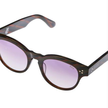 ug.xredi'FLITZ'model col.5 brown green柄frame /purplegradation lens