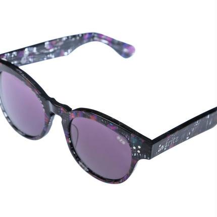 ug.xredi'FLITZ'model col.4 purple 柄frame /purplelens