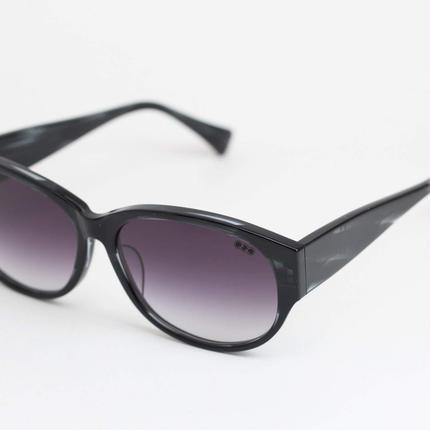 'mango' model black clear 柄2 frame/purple gadation lens