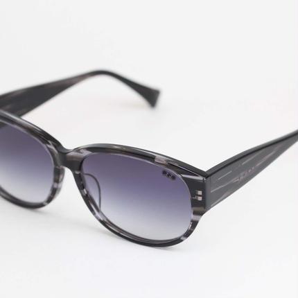 'mango' model black clear 柄3 frame/grey gadation lens