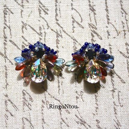 Butterfly Bijou ピアス/イヤリング(Plum)