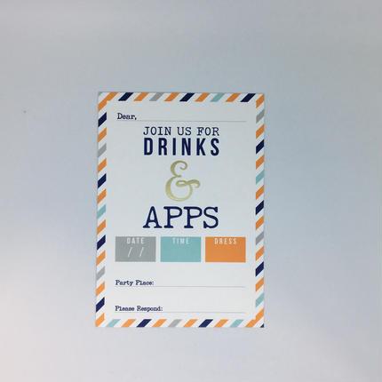 インビテーションカード(封筒付き)Drink&APPS