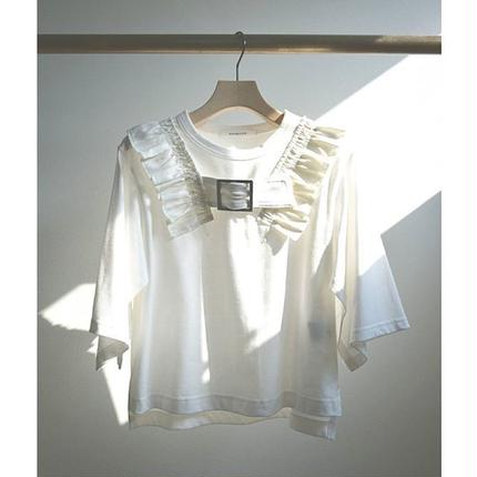 Buckle frill Tops WHITE