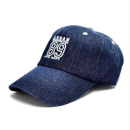 刺繍入りフルフェイス レトロキャップ(7682-425,28,ブルー)