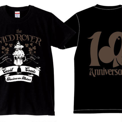 THE WILDROVER 10TH ANNIVERSARY T-Shirts(BK/BN)