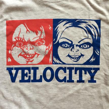 VELOCITY 『チャッキー』Tシャツ グレー