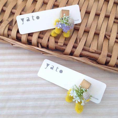 yato | mebuki ピアス / ミモザと小さなスミレ