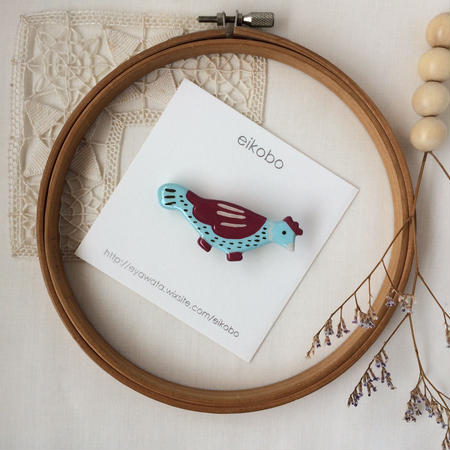 eikobo  |  さんぽ鳥 ブローチ / レッド