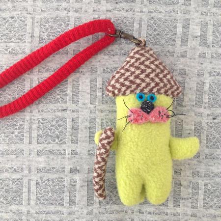 くにはら ゆきこ  |  バッグチャーム /  黄色動物