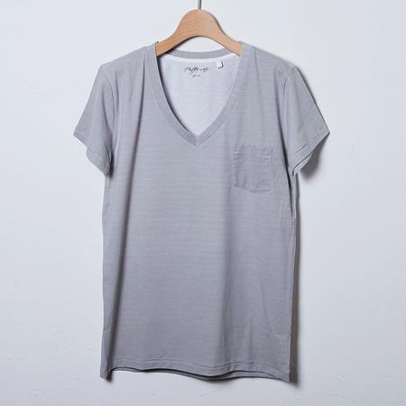 VネックTシャツ/グレー(PW-03-VN-GY)