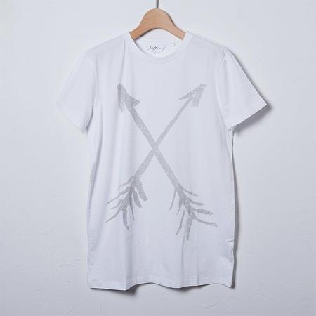 クルーネックTシャツ/プリントアローズ(PW-01-CN-PA)