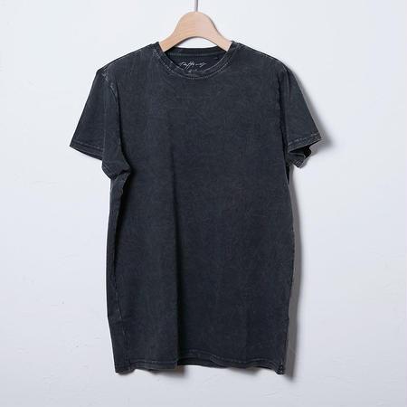 クルーネックTシャツ/チャコールウォッシュド(PW-01-CN-AW)