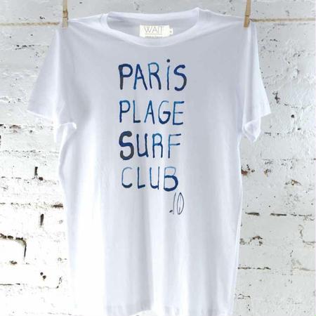 """WAIT Paint Tee """"Paris plage surf club"""""""