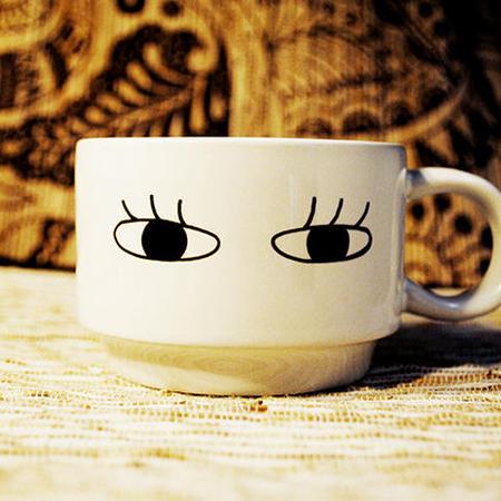 目まつげ マグカップ