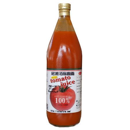 トマトジュース ギャバリッチのみ使用 抜群の甘さ 須藤長明 1000ml