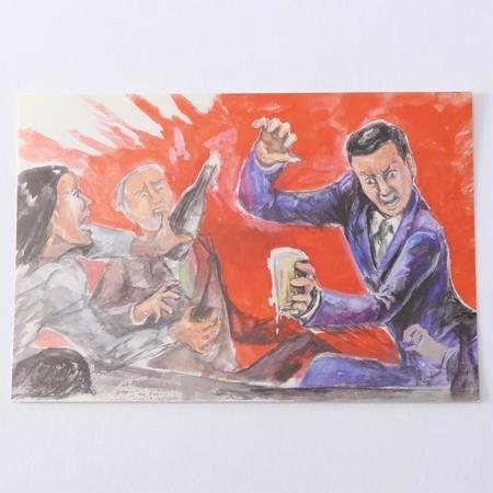 ポストカード「おっとっと」
