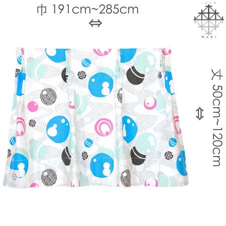 """【MoRi MoRi CURTAIN】 オーダーカーテン:"""" 水玉 """" 巾191cm~285cm・丈 50cm~120cm(遮光裏地付)"""