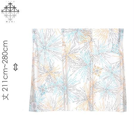 """【MoRi MoRi CURTAIN】 オーダーカーテン:"""" 花火 """" 巾 96cm~190cm・丈211cm~280cm(遮光裏地付)"""