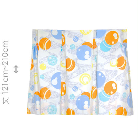 """【MoRi MoRi CURTAIN】 オーダーカーテン:"""" 水玉 """" 巾 96cm~190cm・丈121cm~210cm"""