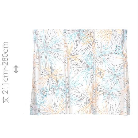 """【MoRi MoRi CURTAIN】 オーダーカーテン:"""" 花火 """" 巾 96cm~190cm・丈211cm~280cm"""