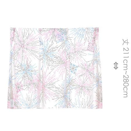 """【MoRi MoRi CURTAIN】 オーダーカーテン:"""" 花火 """" 巾 191cm~285cm・丈211cm~280cm"""