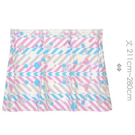 """【MoRi MoRi CURTAIN】 オーダーカーテン:"""" 羽根と雫 """" 巾 191cm~285cm・丈211cm~280cm"""