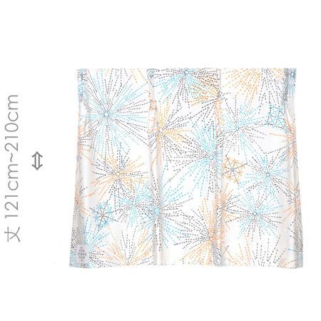 """【MoRi MoRi CURTAIN】 オーダーカーテン:"""" 花火 """" 巾 96cm~190cm・丈121cm~210cm"""
