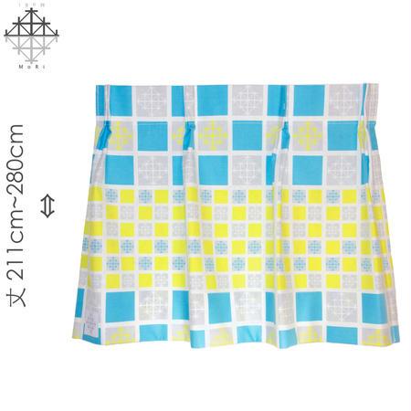 """【MoRi MoRi CURTAIN】 オーダーカーテン:"""" 雪 """" 巾 96cm~190cm・丈211cm~280cm(遮光裏地付)"""