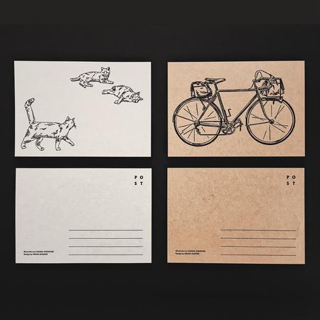Letterpress Postcard 2set