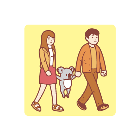 Koala : Walking シール