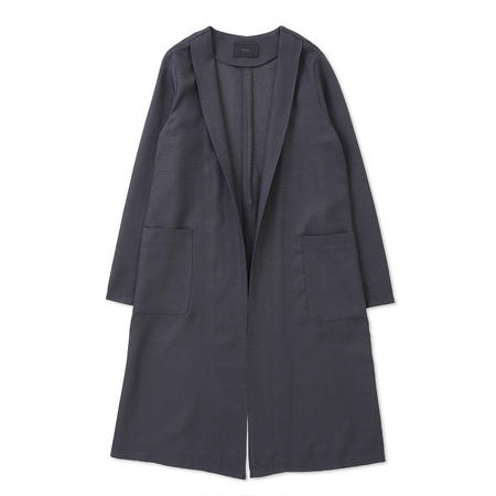 PA7SS-JK01  FAKE LINEN DEEP SLIT LONG JKT