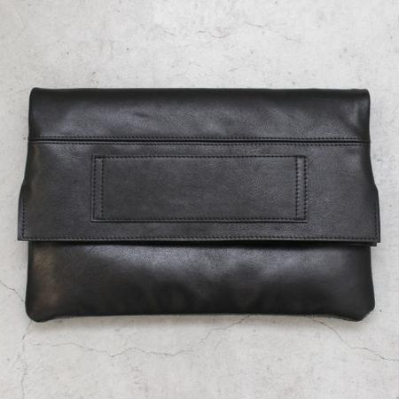 LEATHER REVERSIBLE CLUTCH BAG LARGE