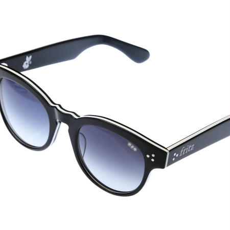 ug.xredi'FLITZ'model col.3black.white frame/grey gradation lens