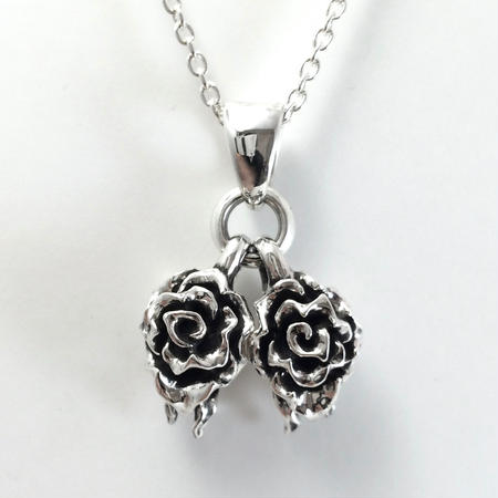 Twins Rose Pendant