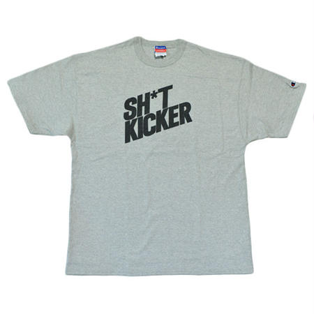 SH*T KICKER / SLANTING LOGO CHAMPION T-SHIRTS -Gray- [SK-030]
