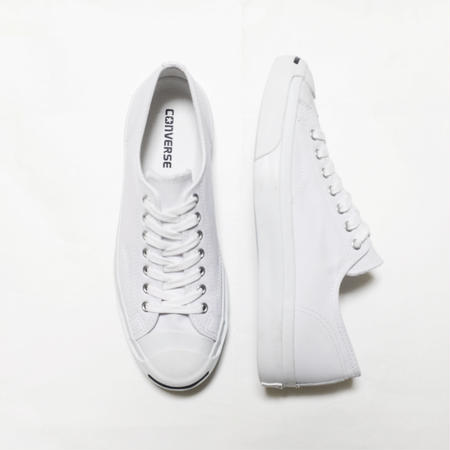CONVERSE Jack Purcell Leather OX WHITE BLACK コンバース ジャックパーセル