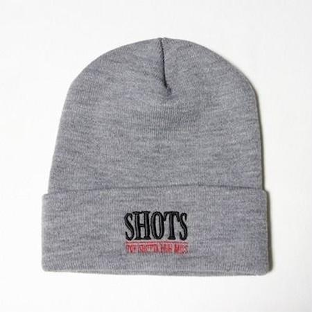SHOTS T.S.N.M LONG BEANIE CAP (GRAY)