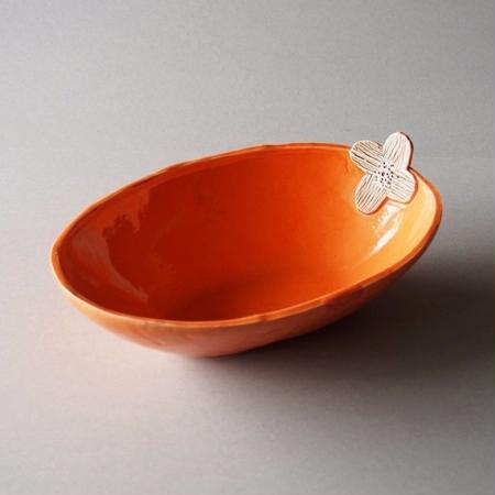 キム ホノ 花オーバル鉢