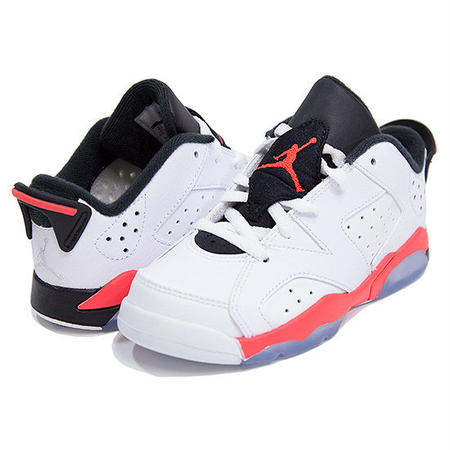 【JORDAN/ジョーダン】Air Jordan 6 Retro Low / ホワイト×インフラレッド×ブラック
